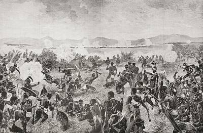 Native Drawing - The Battle Of Ulundi, 1879, Final Rush by Vintage Design Pics