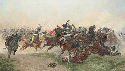 Painting - The Battle Of Wagram by Henri Georges Jacques Chartier