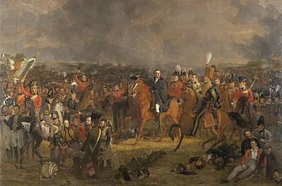 The Battle Of Waterloo Painting - The Battle Of Waterloo by Celestial Images