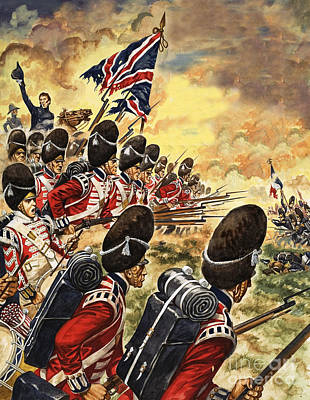 The Battle Of Waterloo Art Print by Peter Jackson