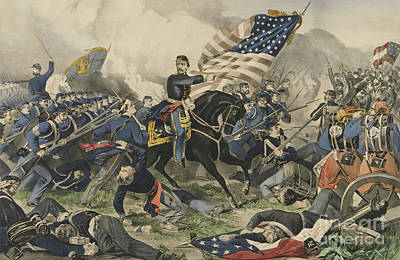Painting - The Battle Of Williamsburg, Virginia On May 5th 1862 by Currier and Ives
