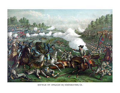 Winchester Painting - The Battle Of Winchester by War Is Hell Store