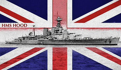 Hms Hood Photograph - The Battleship Hood by JC Findley
