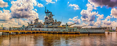Photograph - The Battleship New Jersey by Nick Zelinsky