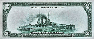 Photograph - The Battleship Two Dollar Bill by JC Findley