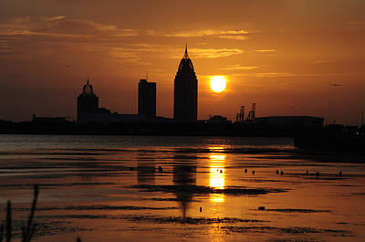 Mobile Al Photograph - The Bay At Sunset Mobile Alabama by Gulf Island Photography and Images
