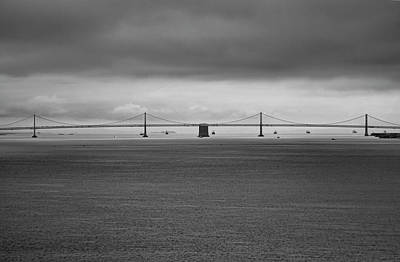 Photograph - The Bay Bridge B/w by Wes Jimerson