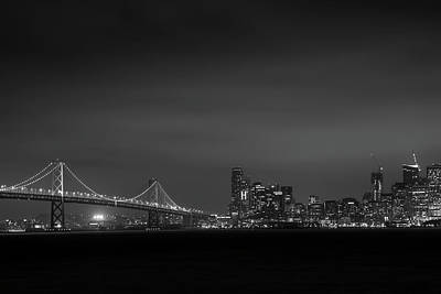 Photograph - The Bay Bridge San Francisco Ca Black And White by Toby McGuire