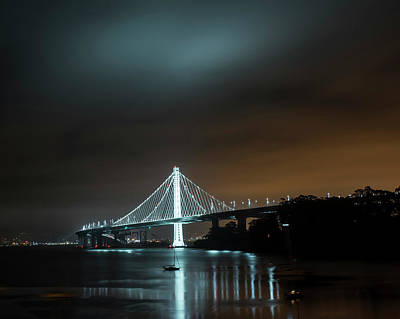 Photograph - The Bay Bridge San Francisco Ca Boats by Toby McGuire
