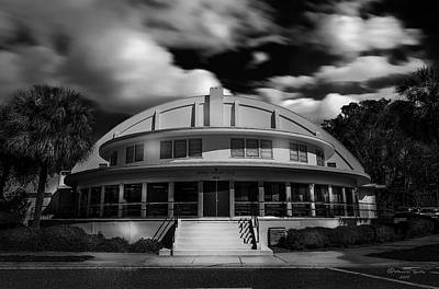 Municipality Photograph - The Bay Front Community Center Bw by Marvin Spates