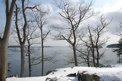 The Bay In Winter Art Print by Faith Harron Boudreau