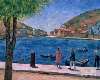 Fishing Village Painting - The Bay Of Balaklava by Aleksandr Davidovic Drevin