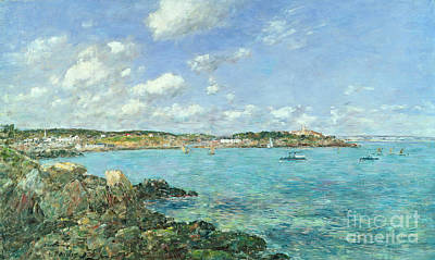 The Bay Of Douarnenez Print by Eugene Louis Boudin