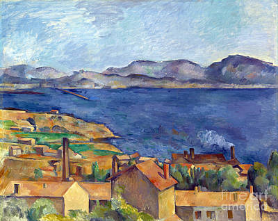 Estaque Painting - The Bay Of Marseilles, Seen From L'estaque by Cezanne