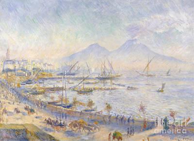 Italian Harbor Painting - The Bay Of Naples, 1881 by Pierre Auguste Renoir