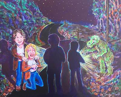The Bay Road Swamp Monster Art Print