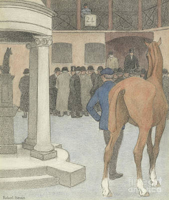 Painting - The Bayhorse, Tattersalls, 1921 by Robert Polhill Bevan