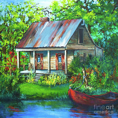 Painting - The Bayou Cabin by Dianne Parks