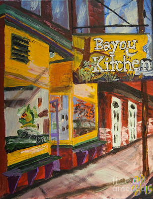 Painting - The Bayou Kitchen by Francois Lamothe