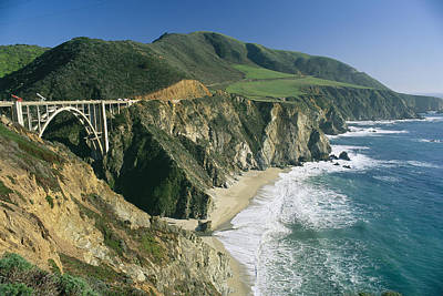 Coast Highway One Photograph - The Beach And Shoreline Along Highway 1 by Phil Schermeister
