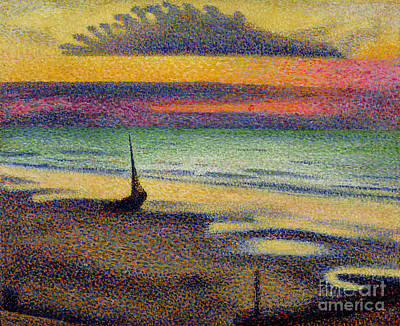 Impressionist Beach Painting - The Beach At Heist by Georges Lemmen