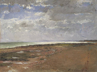 Painting - The Beach At Luc by Carl Fredrik Hill