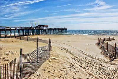 The Beach At Ocean City Maryland Art Print