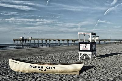 Transportation Royalty-Free and Rights-Managed Images - The Beach At Ocean City, NJ by James DeFazio