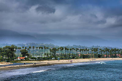 The Beach At Santa Barbara Art Print