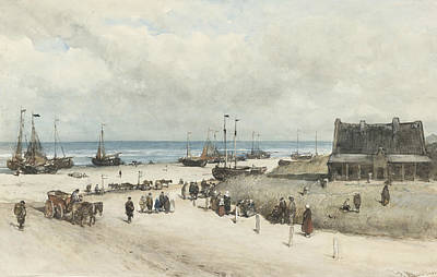 Scheveningen Painting - The Beach At Scheveningen by Johannes Bosboom