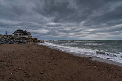 Photograph - The Beach At Scituate Lighthouse by Brian MacLean