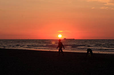 Photograph - The Beach At Sunset by Aidan Moran