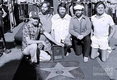 The Beach Boys At Their Walk Of Fame Ceremony, Hollywood Ca Art Print by The Titanic Project