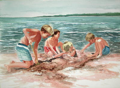 Painting - The Beach Boys by Becky Taylor