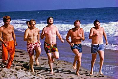 Jardine Photograph - The Beach Boys On Zuma Beach, 1967. by The Titanic Project