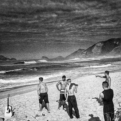 Guitar Photograph - The Beach Boys  #beach #sea #boys by Rafa Rivas