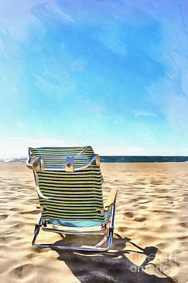 The Beach Chair Art Print