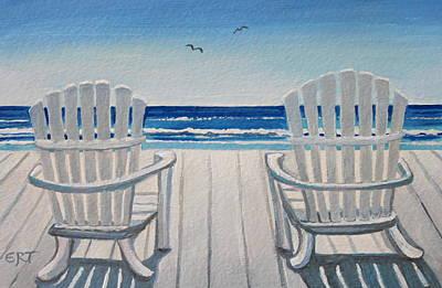 The Beach Chairs Art Print