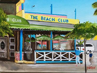 Painting - The Beach Club On Siesta Key by Lloyd Dobson