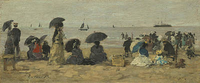 The Beach Print by Eugene Boudin