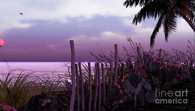 Digital Art - The Beach by Georgina Hannay