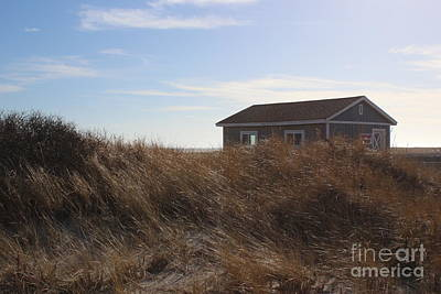 Photograph - The Beach House And Sand Dunes At Jones Beach by Dora Sofia Caputo Photographic Art and Design