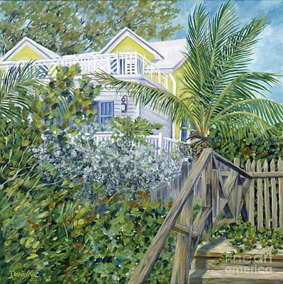 Sipping Painting - The Beach House by Danielle  Perry