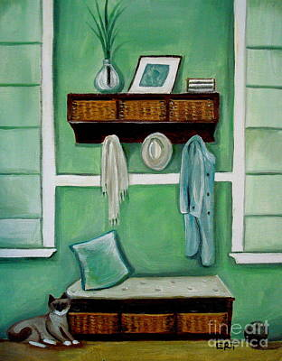 Pottery Barn Painting - The Beach House by Elizabeth Robinette Tyndall