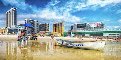 Photograph - The Beach In Atlantic City by Nick Zelinsky