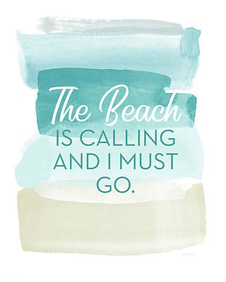 The Beach Is Calling- Art By Linda Woods Art Print
