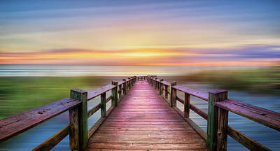Photograph - The Beach Is Calling Dreamscape Panorama by Debra and Dave Vanderlaan