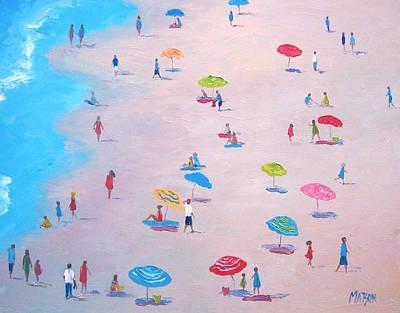 Summer Scene Painting - The Beach by Jan Matson