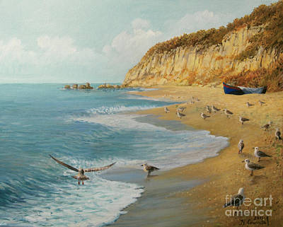 The Beach Art Print by Kiril Stanchev