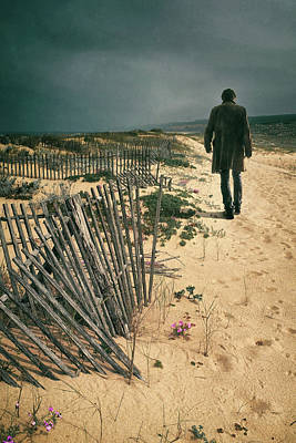 Walking Away Photograph - The Beach Man by Carlos Caetano